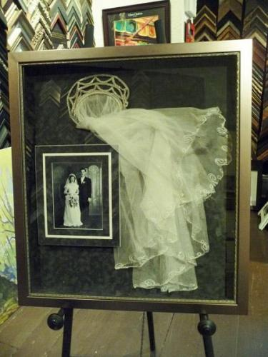 1920's Wedding Memorabilia Framed