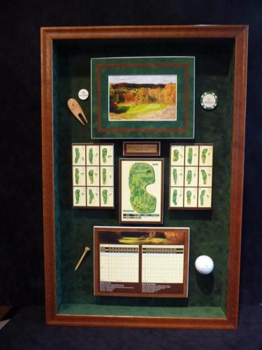 Hockley Valley Golf Memorabilia Framed