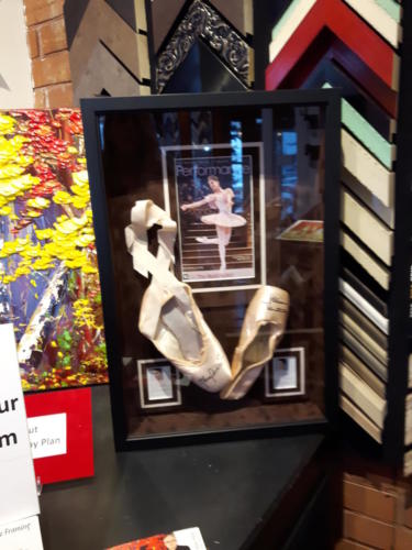 Nutcracker Ballet slippers Framed