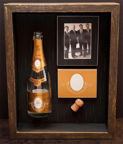 Celebratory Champagne Bottle Framed